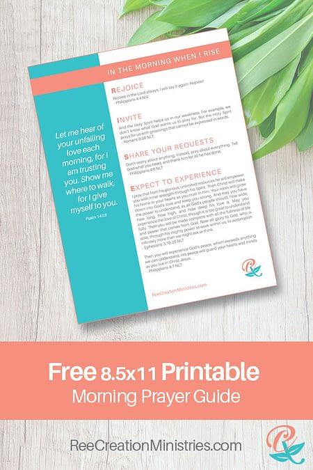 Free Printable - RISE prayer guide