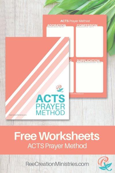 Worksheet Printable - ACTS Prayer Method