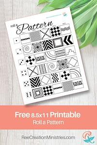 Roll a Pattern : Art Journal Exercise