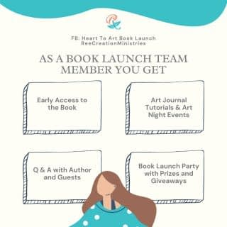 Some have been wondering what does being part of a book launch team entail, what do you get?  As a member of the book launch team you will get: ☑ Early Access to the book You will get a digital copy of the book before it's released to the public. You will be able to give your input and feedback on the manuscript as well as the cover.  ☑ Art Tutorials and Art night events Whether by me or other guest experts we will have some creative tutorials, and even do some of the prompts out of the book together.   ☑ Q&A with Me and other Guest experts I will answer questions about the book. I have also invited guest experts to share their insights on a variety of topics from art to self-care, to faith and mental wellness.  ☑ Invited to the Book Launch Party As a member of the book launch team, we get to celebrate together with a book launch party, even a book launch week of events prizes, and giveaways.  So if you're not part of the team yet, you can still join - see link in bio to sign up or comment below if you have any questions. . . . . . #LifeWithPurpose #FaithAndMentalHealth #MentalHealthAwareness #HeartToArt #HeartToArtBook #HeartToArtBookLaunch #TherapeuticArt #ArtTherapy #TraumaHealing #NewHope #HopeForNewBeginnings #Depression #Anxiety #ChristianMentalHealth #IdentityInChrist #DreamCreateInspire #ReeCreationMinistries #ChristianLiving #ChristianWomenBloggers #christianwomenbloggersofinstagram #ChristianEncouragement #ChristianInspiration #FaithJourney #FaithInspired #BibleTruth #BibleStudy #ChristianBlog #ChristianPosts