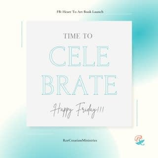 Happy Friday!!! 🎉🎉🎉  I'm celebrating a wonderful month-long vacation and visit with my family on the East Coast.   I am also celebrating YOU and the tremendous support I'm getting from my Heart to Art Book Launch Team!!! Let's keep it going!!!  🙌🏽 Your turn, what are you celebrating? . . P.S. If you want to find out more about what I'm launching visit the link in my bio or comment below . . . . . #LifeWithPurpose #FaithAndMentalHealth #MentalHealthAwareness #HeartToArt #HeartToArtBook #HeartToArtBookLaunch #TherapeuticArt #ArtTherapy #TraumaHealing #NewHope #HopeForNewBeginnings #Depression #Anxiety #ChristianMentalHealth #IdentityInChrist #DreamCreateInspire #ReeCreationMinistries #ChristianLiving #ChristianWomenBloggers #christianwomenbloggersofinstagram #ChristianEncouragement #ChristianInspiration #FaithJourney #FaithInspired #BibleTruth #BibleStudy #ChristianBlog #ChristianPosts